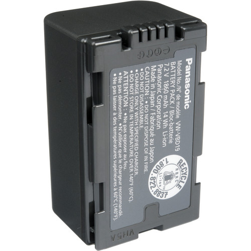 Panasonic VW-VBD19PPK Lithium-Ion Snap On Battery (7.2V, 1860mAh)