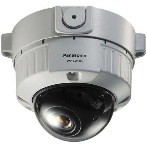 Panasonic WV-CW504S SD 5 Fixed Dome Camera (3.8-8mm, 24 VAC, Surface Mount)