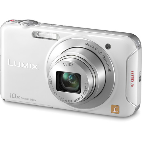 Panasonic Lumix DMC-SZ5 Digital Camera (White)