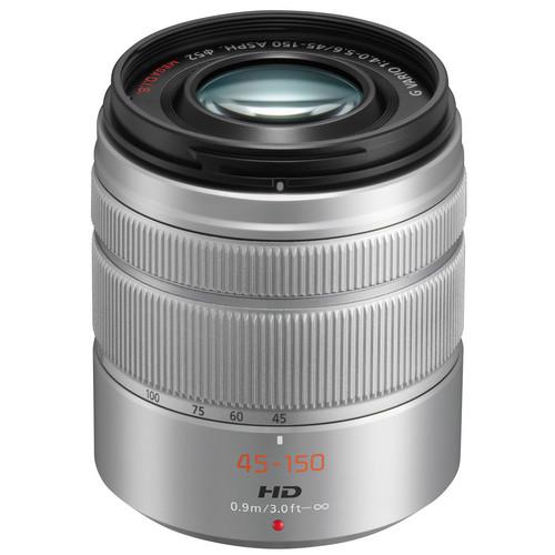 Panasonic Lumix G Vario 45-150mm f/4-5.6 ASPH. MEGA O.I.S. Lens (Silver)