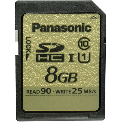 Panasonic 8GB SDHC Memory Card Gold Series Class 10 UHS-I