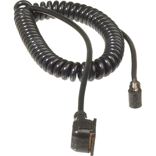 """Paramount VHS-6C Flash Sync Cord - Vivitar to Hot Shoe - Coiled - 21"""" to 5'"""