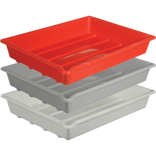 "Paterson Plastic Developing Trays - for 16x20"" Paper (Set of 3 One of Each Color)"