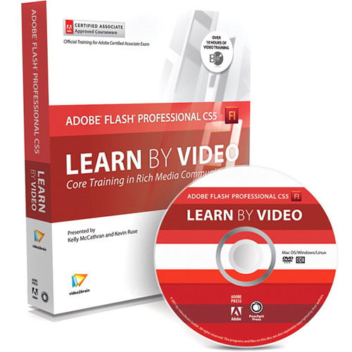 Pearson Education Book & DVD: Learn Adobe Flash Professional CS5 by Video: Core Training in Rich Media Communication