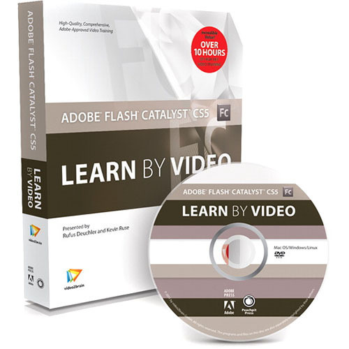 Pearson Education Book & DVD-ROM: Adobe Flash Catalyst CS5: Learn by Video