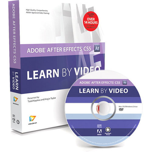 Pearson Education Book & DVD-ROM: Adobe After Effects CS5: Learn by Video