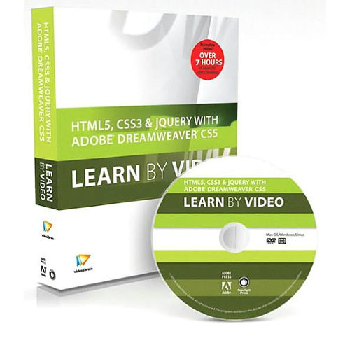 Pearson Education Book & DVD: HTML5, CSS3, and jQuery with Adobe Dreamweaver CS5.5: Learn by Video (1st Edition)