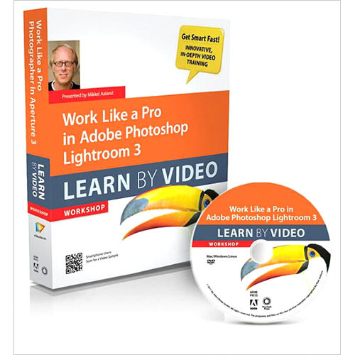 Pearson Education Book & DVD-ROM: Work Like a Pro in Adobe Photoshop Lightroom 3: Learn by Video