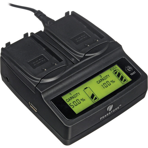 Pearstone Duo Battery Charger for Fuji NP-140