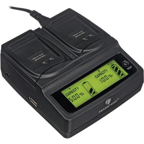 Pearstone Duo Battery Charger for Kodak KLIC-7000