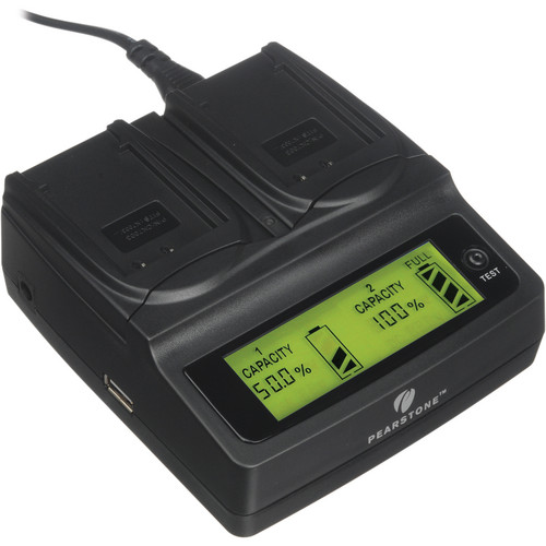 Pearstone Duo Battery Charger for Kodak KLIC-7003