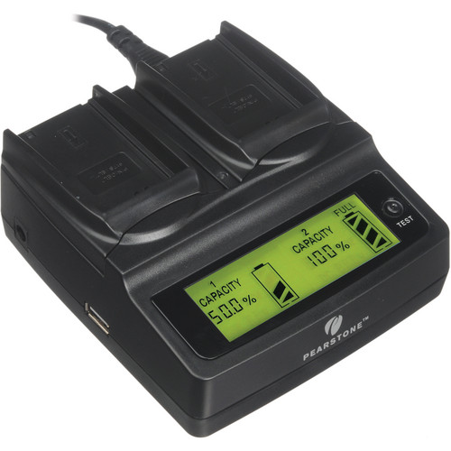 Pearstone Duo Battery Charger for Nikon EN-EL7