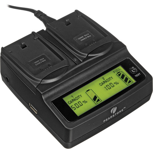 Pearstone Duo Battery Charger for Panasonic CGA-S002