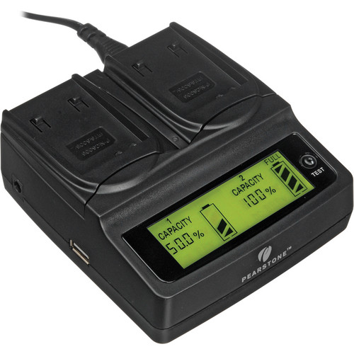 Pearstone Duo Battery Charger for Panasonic CGA-S005