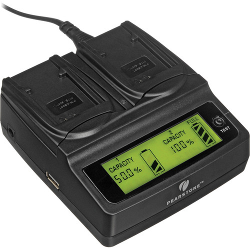 Pearstone Duo Battery Charger for Panasonic CGA-S007