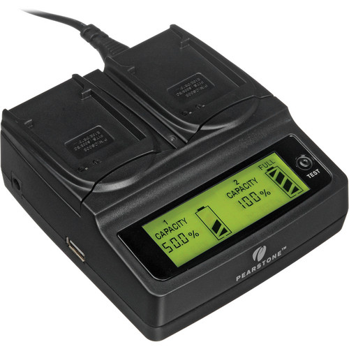 Pearstone Duo Battery Charger for Panasonic CGA-S008 & VW-VBJ10