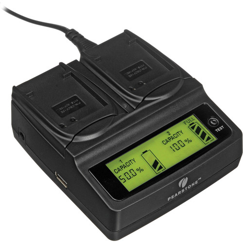 Pearstone Duo Battery Charger for Panasonic DMW-BCF10