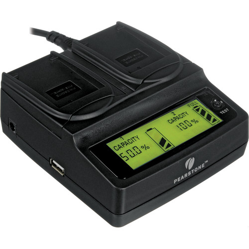Pearstone Duo Battery Charger for Panasonic DMW-BCH7