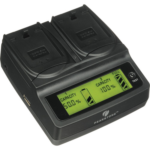Pearstone Duo Battery Charger for Panasonic DMW- BLB13