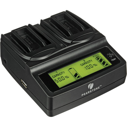 Pearstone Duo Battery Charger for Canon NB-9L