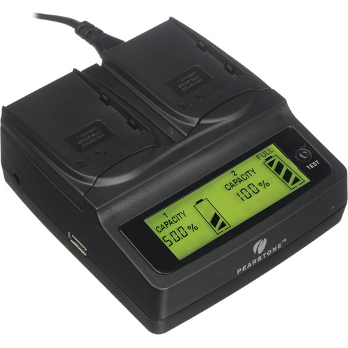 Pearstone Duo Battery Charger for Canon BP-208/308/310/315