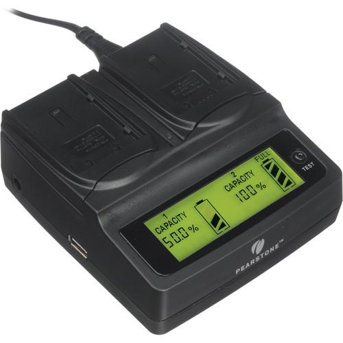 Pearstone Duo Battery Charger for Panasonic CGA-DU06/DU07/DU12/DU14/DU21