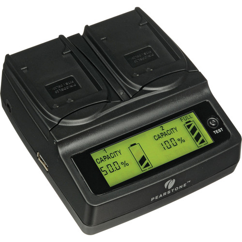 Pearstone Duo Battery Charger for Sanyo DB-L20, DB-L20A & DB-L20AU