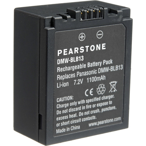 Pearstone DMW-BLB13 Lithium-ion Battery Pack (7.2V, 1100mAh)