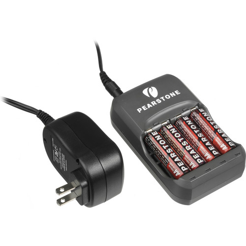 Pearstone NM-30H26 4 AA NiMH Batteries with 30 Minute Charger (2600mAh,110-240V)