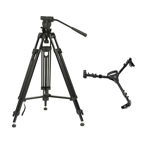 Pearstone Pearstone VT2500B Video Tripod & Head with Universal Dolly Kit