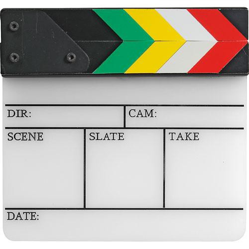 "Pearstone Acrylic Dry Erase Clapboard with Color Sticks (7x7.25"")"