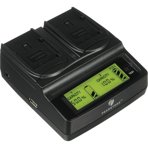 Pearstone Duo Battery Charger for Panasonic VW-VBN130 / VW-VBN260
