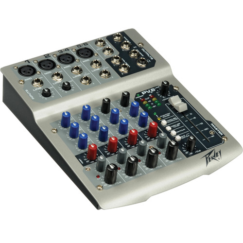 Peavey PV6 USB Live Sound Mixer with 6 Channels and USB Connectivity