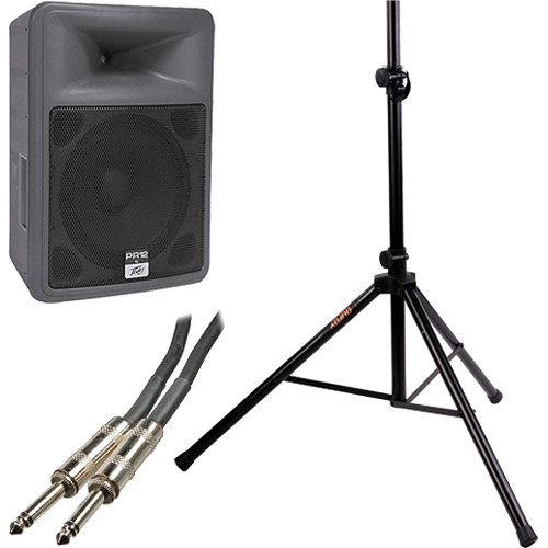 "Peavey PR12 12"" 2-Way Portable PA Speaker Kit with Stand"