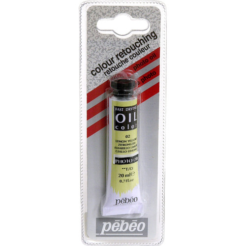 "Pebeo Oil Color Paint: No.02 Lemon Yellow - 3/4x4"" Tube (.7 Oz.)"