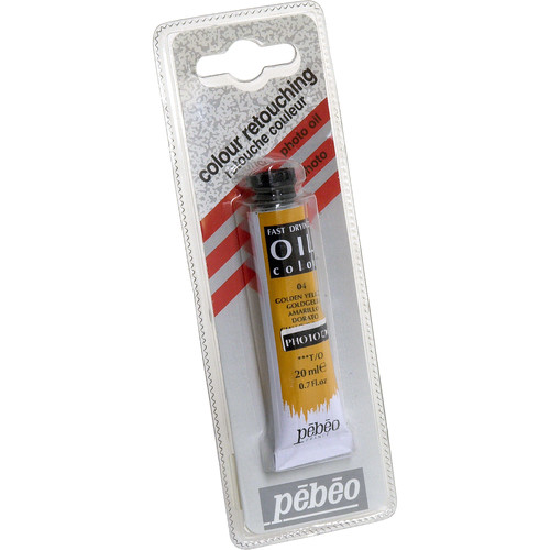 "Pebeo Oil Color Paint: No.04 Golden Yellow - 3/4x4"" Tube (.7 Oz.)"