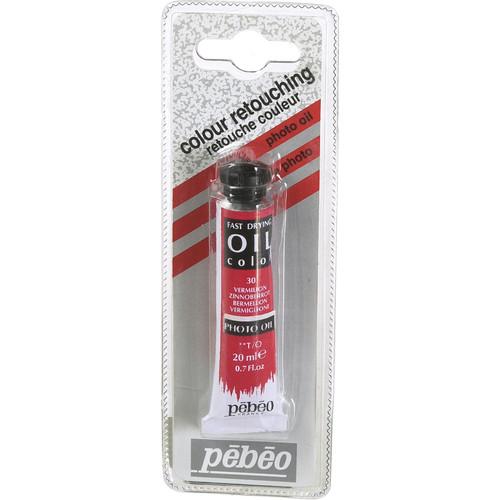 """Pebeo Oil Color Paint: No.30 Vermillion - 3/4x4"""" Tube (.7 Oz.)"""