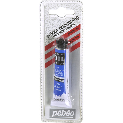 "Pebeo Oil Color Paint: No.10 Cerulean Blue - 3/4x4"" Tube (.7 Oz.)"