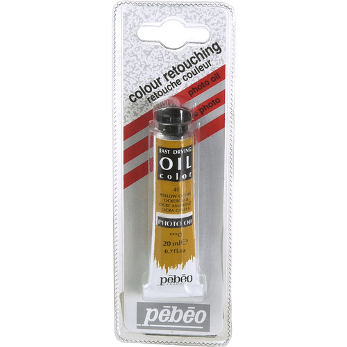 "Pebeo Oil Color Paint: No.41 Yellow Ochre - 3/4x4"" Tube (.7 Oz.)"