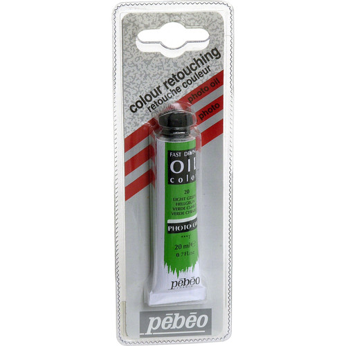"Pebeo Oil Color Paint: No.20 Light Green - 3/4x4"" Tube (.7 Oz.)"
