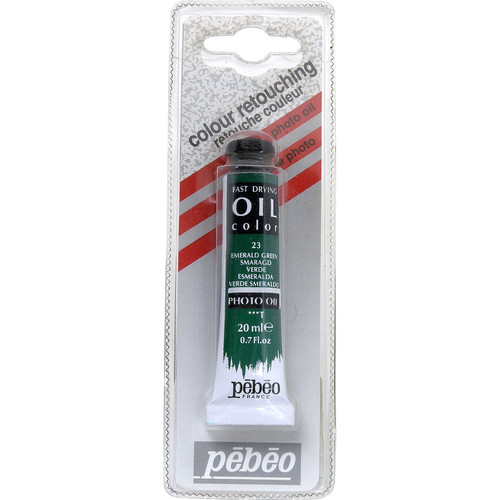 "Pebeo Oil Color Paint: No.23 Emerald Green - 3/4x4"" Tube (.7 Oz.)"