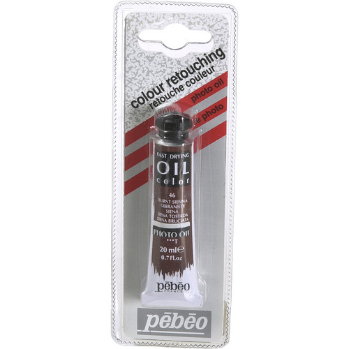 "Pebeo Oil Color Paint: #46 Burnt Sienna - 3/4x4"" Tube (.7 Oz.)"