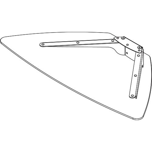 Peerless-AV Glass Shelf, Model ACC317S (Silver with Clear Glass Shelf)