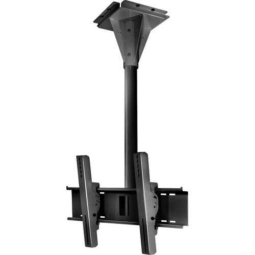 Peerless-AV ECMU-04-C Wind Rated Ceiling Tilt Mount (4' Pole Length, Black)