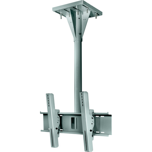Peerless-AV ECMU-04-I-S Wind Rated I-beam Tilt Mount (4' Pole Length, Stone Gray)