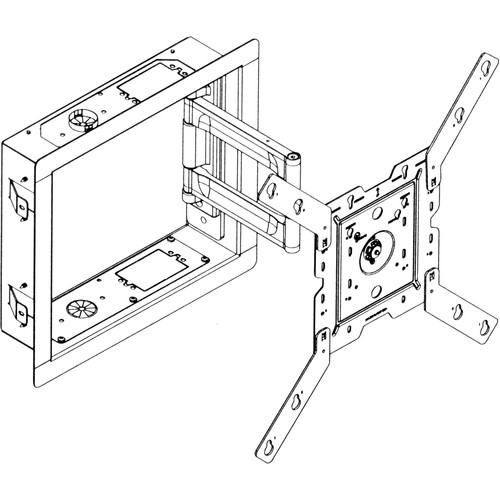 Peerless-AV IB40-W In Wall Box For LCD Screens (White)