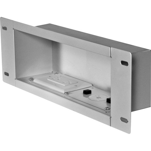 Peerless-AV IBA3AC-W Recessed Cable Management and Power Storage Accessory Box
