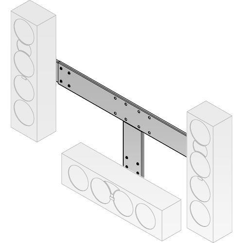Peerless-AV MSA-301S Multi-Channel Speaker Mount (Silver)