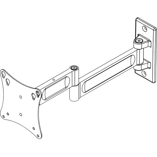 """Peerless Industries PA730-S Paramount Articulating Wall Arm for 10 to 29"""" Screens (Silver)"""
