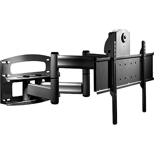 "Peerless-AV Articulating Dual Wall Arm with Vertical Adjustment (42-60"", Black)"